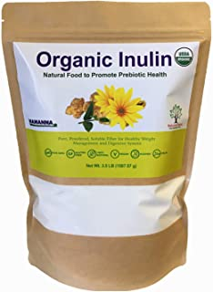 NAMANNA Organic Inulin FOS Powder – 3.5 LB, Natural Fiber from Jerusalem Artichoke, Prebiotic Intestinal Support, Digestiv...