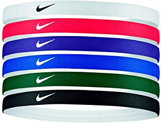 Swoosh 6-Pack Printed Headbands (Multicolor) - Silicone Grips - Unisex