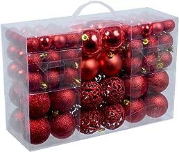 Unbekannt Esclusivo palline di Natale con 100 palline natalizie Set pz colore rosso