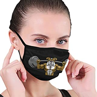 Bulldog Dog Weight Lifting A Barbell Unisex Anti Dust Face Mouth Mask for Man Woman