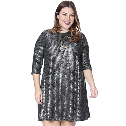 9022ac0be34 Grayson Shop Plus Size Metallic Knit Dress