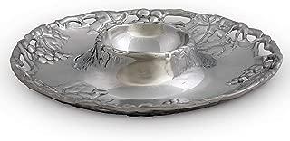 Arthur Court Designs Aluminum Grape Chip and Dip; 14