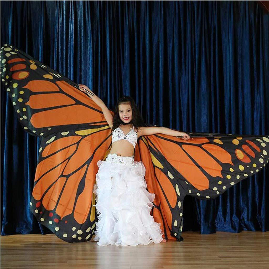 Niuqy - Bufanda de niña con alas de Mariposas, para niña, Disfraz ...