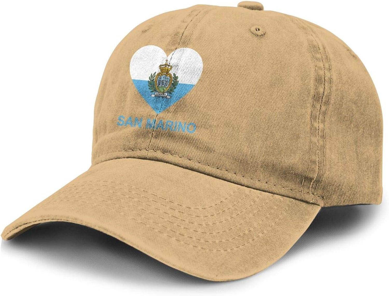 Love San Marino Adult Curved Brim Baseball Hat Sports Cowboy Cap