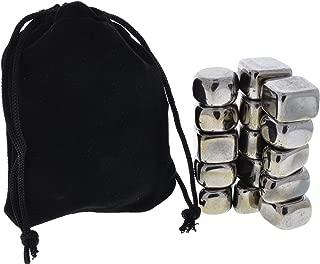 Fantasia Materials: 15 pcs Tumbled Silver Magnetic Hematite Stones in Velveteen Bag