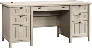 "Sauder Costa Executive Desk, L: 65.12"" x W: 29.53"" x H: 30.0"", Chalked Chestnut finish"