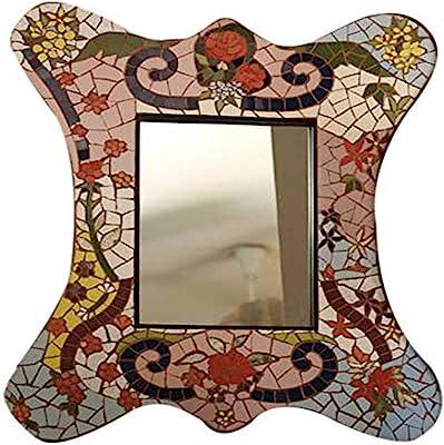 NOVICA Rose Garden Mosaic Mirror