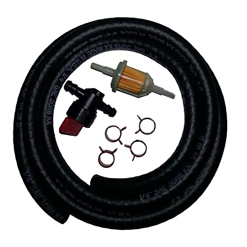 Carburetor Fuel Line Replacement Kit for Kawasaki, Tecumseh, Briggs and Stratton, and Kohler