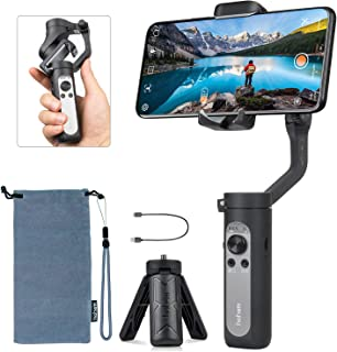 Hohem iSteady X - 3-Axis 0.5 lbs Lightweight Smartphone Gimbal Foldable Handheld Pocket Stabilizer Youtuber Vlogger Live Video for iPhone 11 Pro Max X XS, Android - Black