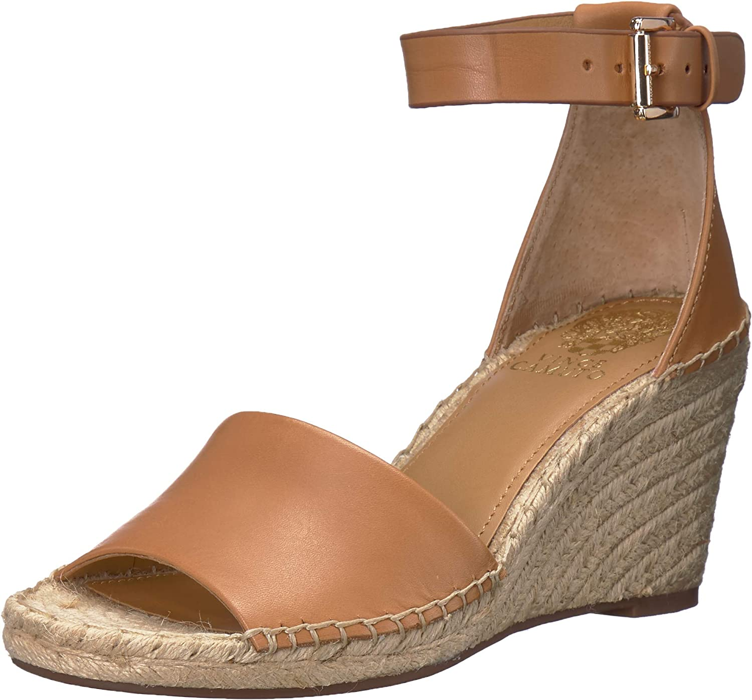 Vince Camuto Women's Leera Espadrille Wedge Sandal, tan, 7 Medium US