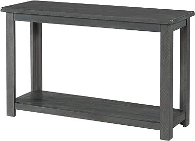 Benjara 48 Inch Rectangular Wooden Console Table, Gray