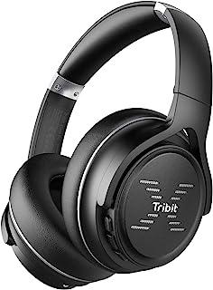 Tribit XFree Go Bluetooth Headphones, Wireless Headphones over Ear with Bluetooth 5.0, HiFi Sound with Deep Bass, USB ligh...