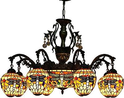 Amazon.com: Makenier clásico Estilo Tiffany vidrieras 6 ...
