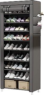 comprar comparacion UDEAR Zapato del gabinete Zapatero de Tela 10 Niveles Zapateros y hormas para Zapatos Gris