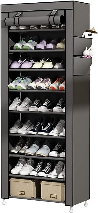 udear portascarpe scarpiera armadio a 10 ripiani, capacità fino a 27 paia di scarpe b06xw96y6t