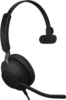 Jabra Evolve2 40 UC Wired Headphones, USB-C, Mono, Black – Telework Headset for Calls and Music, Enhanced All-Day Comfort,...