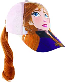 Disney Frozen Elsa Or Anna Ponytail Baseball Cap for Little Girls