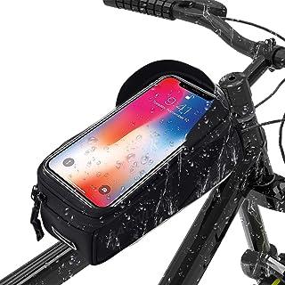 BAONUOR Fahrrad Rahmentasche Baonuor Fahrrad Handytasche für iPhone 7 Plus/6s Plus/6 Plus/Samsung s7 edge andere bis zu 6 Zoll Smartphones, Wasserabweisende Fahrrad Lenkertasche