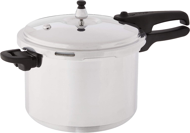 Mirro 92180A Polished Aluminum 10-PSI Pressure Cooker Cookware, 8-Quart, Silver