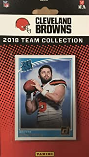Cleveland Browns 2018 Donruss Factory Sealed NFL Football Complete Mint 14 Card Team Set with Joe Thomas, Ozzie Newsome, Rookie Cards of Baker Mayfield and Denzel Ward plus
