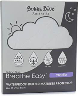 Bubba Blue Breathe Easy Waterproof Quilted Cradle Mattress Protector, White