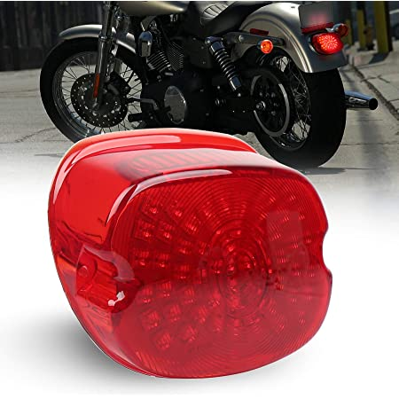 Amazon.com: MOVOTOR Red Low Profile Tail Light Integrated Brake Turn Signal  Rear Light for Harley Dyna Sportster 883 1200 Dyna FXD Road King: Automotive | 2014 Switch Back Harley Wiring Diagram |  | Amazon.com