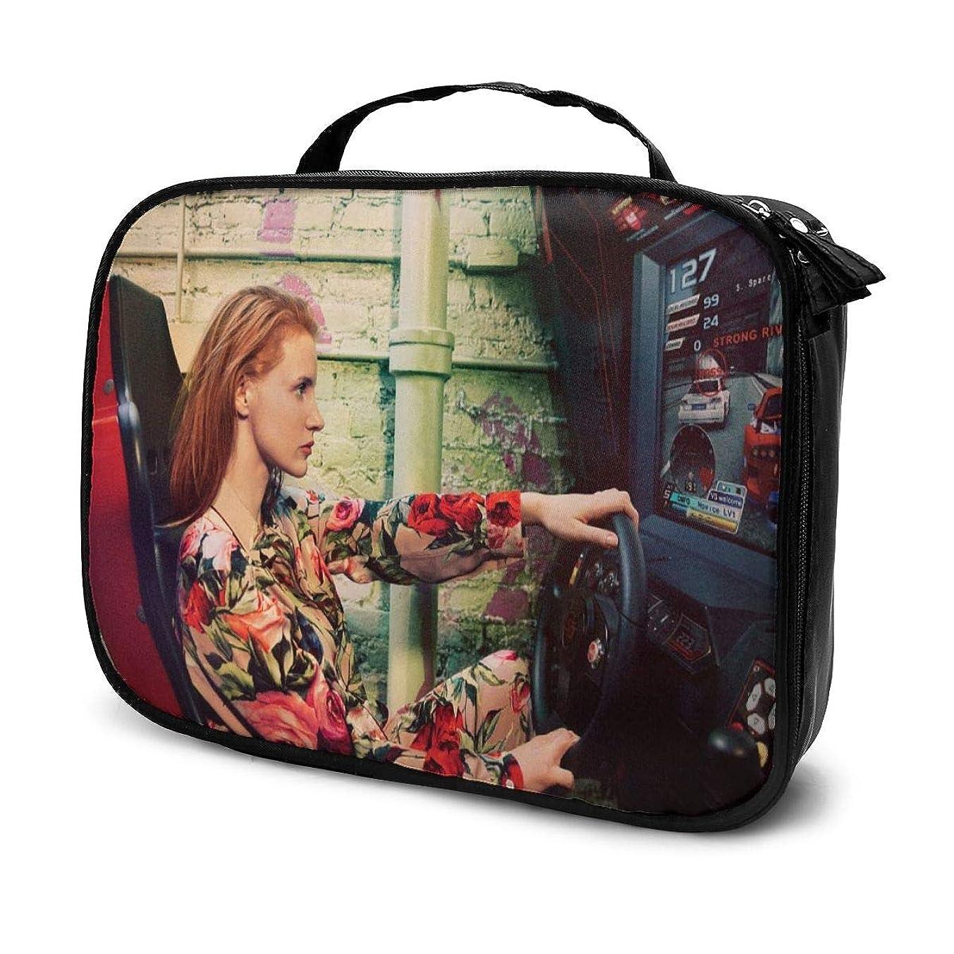 じゃがいも半ば半ば化粧ポーチ 俳優Jessica Chastain 女性化粧品バッグ ビューティー メイク道具 フェイスケアツール 化粧ポーチメイクボックス ホーム、旅行、ショッピング、ショッピング