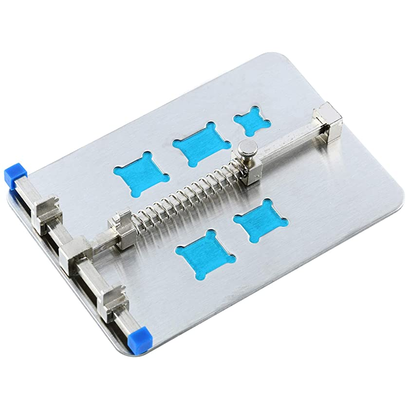YaeTek Silver Adjustable Mobile Phone PCB Circuit Board Holder With 5 Kinds Of IC Grooves Repair and Soldering