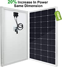 ECO-WORTHY - Panel solar (100 W, 12 V), 120W solar panel, Negro, 1