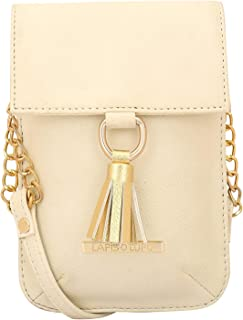 Lapis O Lupo Adobe Women Mobile Sling Bag (Off White) Multi-functional pocket design