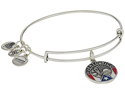 Alex and Ani Places We Love Puerto Rico Bangle (Rafaelian Silver) Bracelet