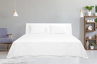 Hotel Linen White Plain King Size 260 x 280 cm Bedding Set - 3 Pieces
