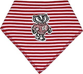 University of Wisconsin Bucky Badger Striped Bandana Bib