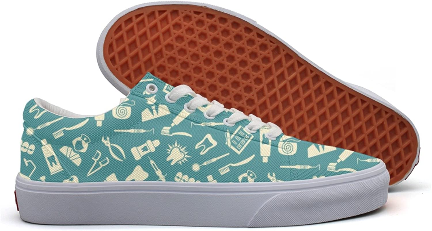 The Theme Of Dentistry Women's Casual Sneakers shoes Canvas Cool Low Top Designer