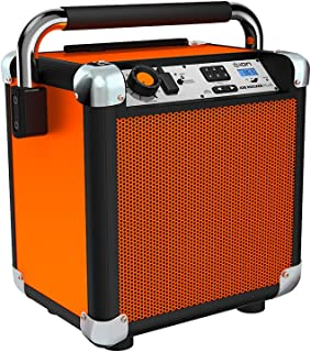 ION Audio Job Rocker Plus | Portable Heavy-Duty Jobsite Bluetooth Speaker System with AM/FM Radio & Dual AC Power Outlets