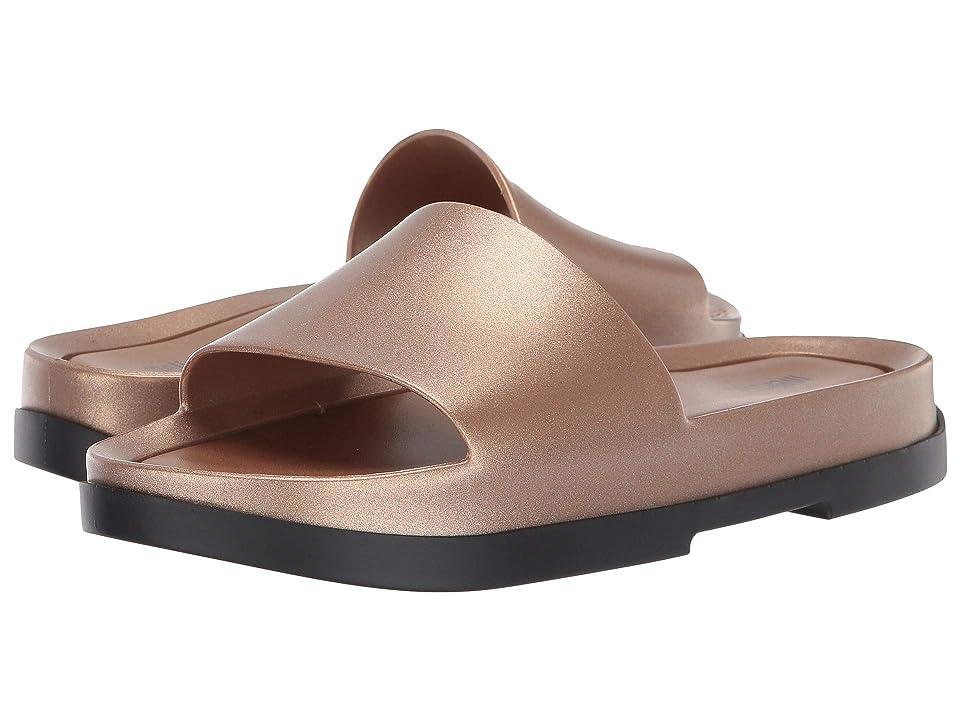 Melissa Shoes Beach Slide Platform (Black/Gold) Women