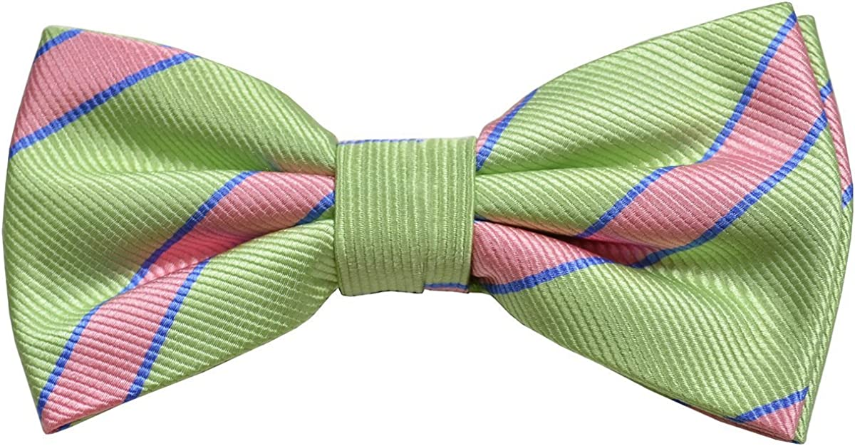 Paul Malone Silk Bow Tie Mint and Pink