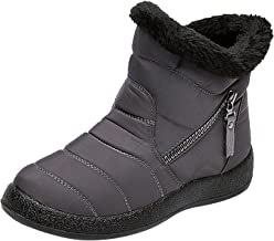 $35 » Padaleks Womens Snow Boots Warm Ankle Booties Waterproof Comfort Slip On Outdoor Fur Lined Winter Shoes for Women