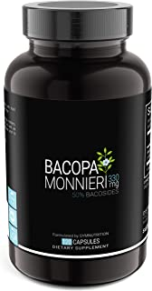 Bacopa Monnieri 330mg (50% Bacosides Standardized) — 120 Count (V-Capsules) / 120 Servings: Manufactured in a cGMP-Registe...