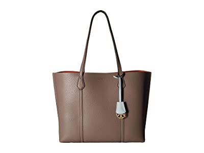 Tory Burch Perry Triple-Compartment Tote (Gray Heron) Tote Handbags