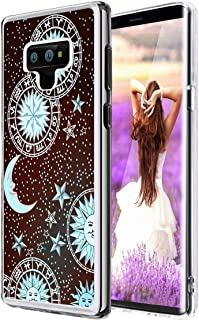 Note 9 Case Sun,Gifun [Anti-Slide] and [Drop Protection] Soft TPU Protective Back Case Cover for Samsung Galaxy Note 9 (2018) - Sun Moon Star on The Galaxy