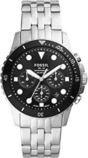 FOSSIL MENS FB - 01 CHRONO STAINLESS STEEL BAND WATCH - FS5837