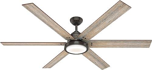 2021 Hunter Fan Company 59397 discount wholesale Warrant Ceiling Fan, Noble Bronze Finish online
