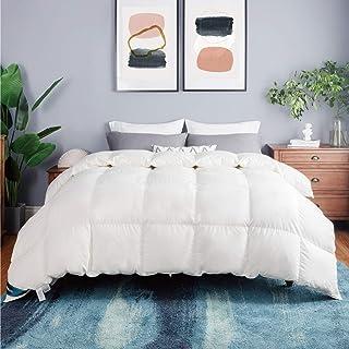 Bedsure100%CottonDownComforterFull/QueenSize(88x88inches)-DownandFeatherQuiltedComforter,50OZ700FillPow...