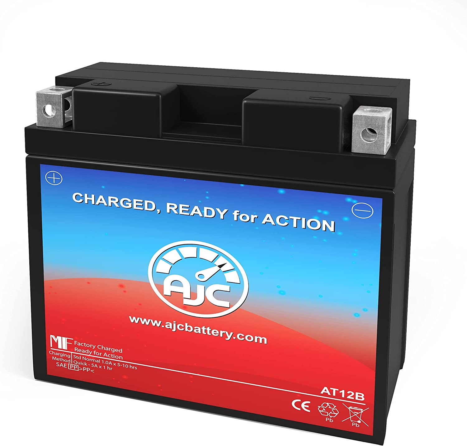 AJC Battery Compatible with Extreme Battery XTA12B-BS Powersports Battery