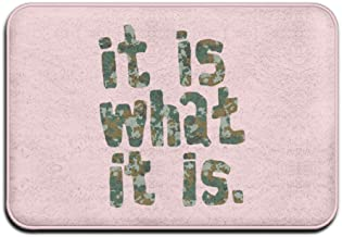 It Is What It Is Camouflage Personalized Door Mats