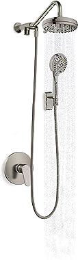 Pulse ShowerSpas 1053-BN Oasis sistema de ducha con 5 funciones de 7 pulgadas, regadera de mano con 6 funciones, acabado de n