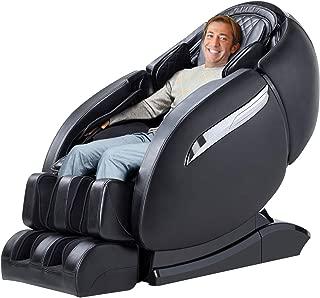 TinyCooper Massage Chair Recliner, Zero Gravity Massage Chair, Full Body Shiatsu Massage Chair with SL Double Track, 3D Robot Hands, Yoga Stretching, Bluetooth Speaker& Air Massage (Black)