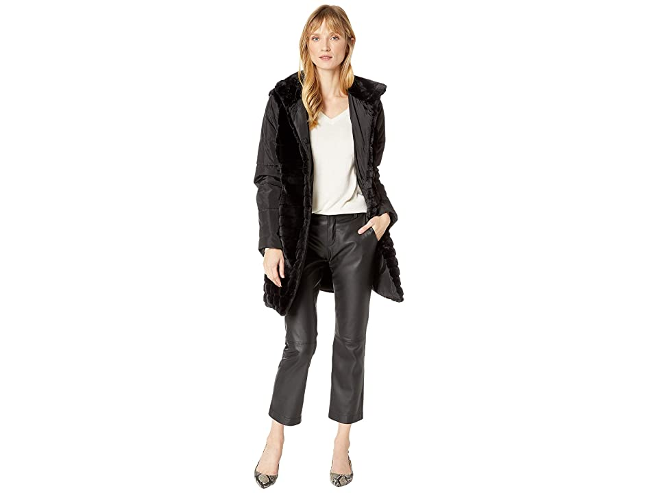 Via Spiga - Via Spiga Faux Fur Mixed Media Storm Coat