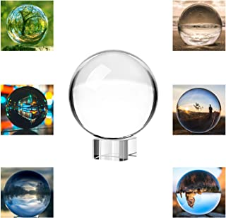 Neewer 100mm/3.94inch Clear Crystal Ball Globe with a Crystal Stand for Feng Shui/Divination or Wedding/Home/Office Decoration